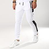 /achat-pantalons-joggings/zayne-paris-pantalon-jogging-avec-bandes-mk07-blanc-noir-169193.html