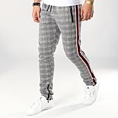/achat-pantalons-joggings/zayne-paris-pantalon-jogging-a-carreaux-avec-bandes-mk08-noir-blanc-rouge-169194.html