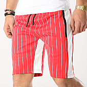 /achat-shorts-jogging/zayne-paris-short-jogging-raye-avec-bandes-md05-rouge-blanc-169198.html
