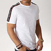 /achat-t-shirts/antony-morato-tee-shirt-avec-bandes-mmks01477-blanc-169296.html
