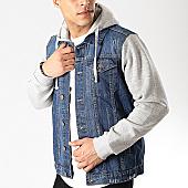 /achat-vestes-jean/brave-soul-veste-jean-capuche-hudson-bleu-denim-gris-chine-169385.html