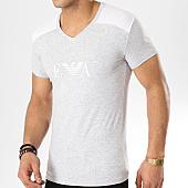 /achat-t-shirts/emporio-armani-tee-shirt-col-v-111815-9p529-gris-chine-blanc-169227.html