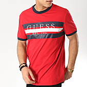 /achat-t-shirts/guess-tee-shirt-m92i61-k8g30-rouge-bleu-marine-blanc-169318.html