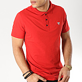 /achat-polos-manches-courtes/guess-polo-manches-courtes-m92p18-j1300-rouge-169328.html