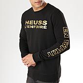 /achat-sweats-col-rond-crewneck/heuss-lenfoire-sweat-crewneck-logo-noir-or-169342.html