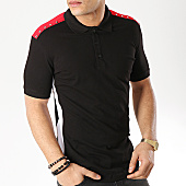 /achat-polos-manches-courtes/ikao-polo-manches-courtes-avec-bandes-f412-noir-169250.html