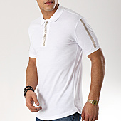 /achat-polos-manches-courtes/ikao-polo-manches-courtes-f447-blanc-renaissance-dore-169315.html