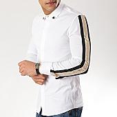 /achat-chemises-manches-longues/ikao-chemise-manches-longues-avec-bandes-f422-blanc-dore-renaissance-169407.html