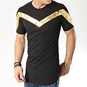 /achat-t-shirts-longs-oversize/ikao-tee-shirt-oversize-f440-noir-dore-169426.html