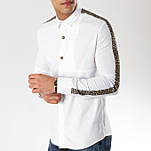 /achat-chemises-manches-longues/ikao-chemise-manches-longues-avec-bandes-f483-blanc-leopard-169427.html