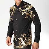 /achat-chemises-manches-longues/ikao-chemise-manches-longues-f425-noir-dore-renaissance-169442.html