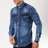 /achat-chemises-manches-longues/ikao-chemise-jean-manches-longues-g194-bleu-denim-169457.html