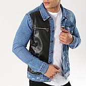 /achat-vestes-jean/ikao-veste-jean-w19123-bleu-denim-noir-169460.html