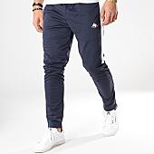 /achat-pantalons-joggings/kappa-pantalon-jogging-a-bandes-authentic-ippolito-304pnx0-bleu-marine-blanc-169431.html