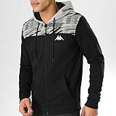 /achat-sweats-zippes-capuche/kappa--sweat-capuche-zippe-slim-garryo-304lmp0-noir-gris-chine-169439.html