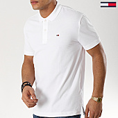 /achat-polos-manches-courtes/tommy-hilfiger-jeans-polo-manches-courtes-classic-6112-blanc-169321.html