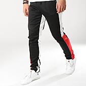 /achat-pantalons-joggings/zayne-paris-pantalon-jogging-avec-bandes-mk03-noir-blanc-rouge-169217.html