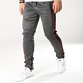 /achat-pantalons-joggings/zayne-paris-pantalon-jogging-avec-bandes-mk02-gris-anthracite-chine-noir-169237.html