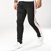 /achat-pantalons-joggings/zayne-paris-pantalon-jogging-avec-bandes-mk02-noir-blanc-169238.html