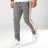 /achat-pantalons-joggings/zayne-paris-pantalon-jogging-a-carreaux-avec-bandes-mk06-noir-blanc-169240.html