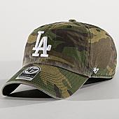 /achat-casquettes-de-baseball/47-brand-casquette-los-angeles-dodgers-clean-up-cargw12gwsnl-vert-kaki-camouflage-169653.html