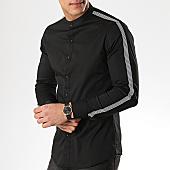 /achat-chemises-manches-longues/mtx-chemise-manches-longues-col-mao-cm317-noir-169525.html