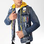/achat-vestes-jean/classic-series-veste-jean-capuche-2561-1-bleu-brut-jaune-169565.html