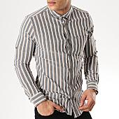 /achat-chemises-manches-longues/black-needle-chemise-manches-longues-3381-gris-blanc-beige-169646.html