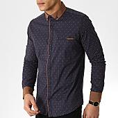 /achat-chemises-manches-longues/classic-series-chemise-manches-longues-3380-bleu-marine-marron-169693.html