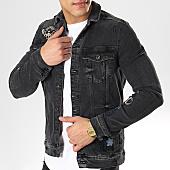 /achat-vestes-jean/classic-series-veste-jeans-dh-2537-noir-169702.html