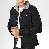 /achat-vestes-jean/classic-series-veste-jean-col-mouton-6459-noir-169743.html