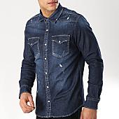 /achat-chemises-manches-longues/classic-series-chemise-jean-slim-manches-longues-6667-bleu-brut-169744.html