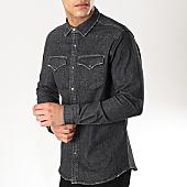 /achat-chemises-manches-longues/classic-series-chemise-jean-slim-manches-longues-6813-noir-169752.html