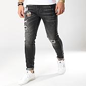 /achat-jeans/grj-denim-jean-skinny-patchs-brodes-13414-noir-169651.html