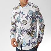 /achat-chemises-manches-longues/mtx-chemise-manches-longues-col-mao-xs1205-blanc-floral-169612.html