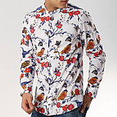 /achat-chemises-manches-longues/mtx-chemise-manches-longues-floral-col-mao-xs1206-blanc-169618.html