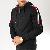 /achat-sweats-zippes-capuche/mtx-sweat-capuche-zippe-a-bandes-xs788-noir-169675.html