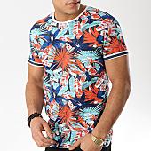 /achat-t-shirts/mtx-tee-shirt-f1003-bleu-marine-orange-floral-169713.html