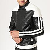 /achat-vestes-biker/mtx-veste-biker-a-bandes-856-noir-blanc-169775.html