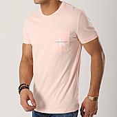 /achat-t-shirts-poche/calvin-klein-tee-shirt-poche-monogram-pocket-slim-1023-rose-169982.html