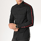 /achat-chemises-manches-longues/mtx-chemise-manches-longues-a-bandes-cz318-noir-169849.html