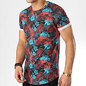 /achat-t-shirts-longs-oversize/mtx-tee-shirt-oversize-floral-f1002-turquoise-orange-169928.html