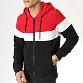 /achat-sweats-zippes-capuche/mtx-sweat-capuche-zippe-xs803-rouge-blanc-noir-169989.html