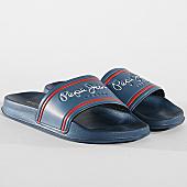 /achat-claquettes-sandales/pepe-jeans-claquettes-slider-classic-pms70070-bleu-marine-169807.html