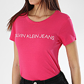 /achat-t-shirts/calvin-klein-tee-shirt-femme-institutional-logo-slim-rose-170035.html