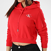 /achat-sweats-capuche/calvin-klein-sweat-capuche-crop-femme-monogram-embroidery-10601-rouge-170062.html