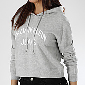 /achat-sweats-capuche/calvin-klein-sweat-capuche-crop-femme-institutional-logo-0686-gris-chine-170064.html