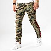 /achat-pantalons-cargo/classic-series-pantalon-cargo-avec-bandes-1801-vert-kaki-camouflage-170268.html
