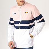 /achat-vestes/ellesse-veste-zippee-rayures-1035n-blanc-rose-bleu-marine-170027.html
