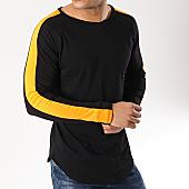 /achat-t-shirts-manches-longues/frilivin-tee-shirt-manches-longues-oversize-avec-bandes-6674-noir-orange-fluo-170161.html